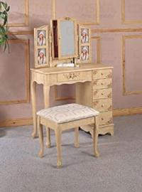 Vanity Table Set in Ivory - Coaster