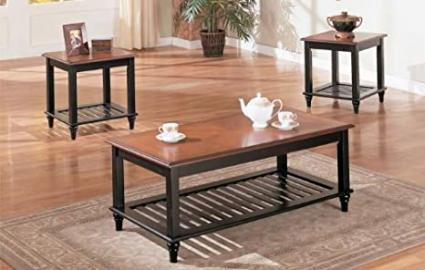 3-PCS COFFEE TABLE : 2-TONE