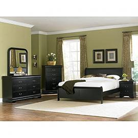 Marianne Sleigh Bedroom Set (Black)
