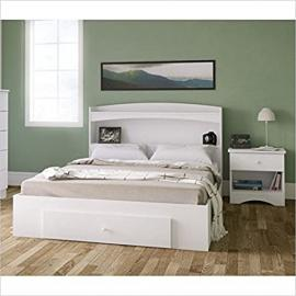 Nexera Vichy 3 Piece Bedroom Set in White and Melamine