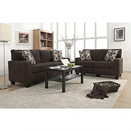 Serta San Paolo 2 Piece Sofa Set in Mink Brown Fabric
