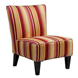 Metro Shop Portfolio Hali Striped Wine Armless Designer Accent Chair