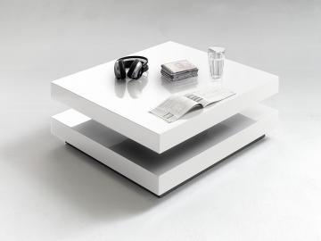 Hugo - white square coffee table