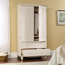 Sauder Harbor View Armoire - Antiqued White