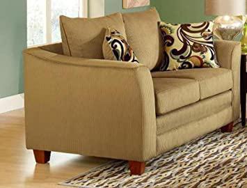 Chelsea Home Furniture McKenzie Loveseat, Viva Chestnut