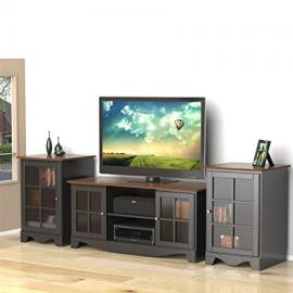 Cinnamon Cherry Black TV Stand With Two Audio Stands FMP25290