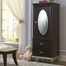 Girls Glam Door Wardrobe - Dark Cherry