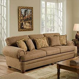 Simmons Upholstery Bixby Sofa in Peat