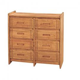 Chelsea Home Furniture 360088-W 8 Drawer Dresser, Honey Finish