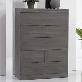 Chintaly Imports 5 Drawer Chest, Grey