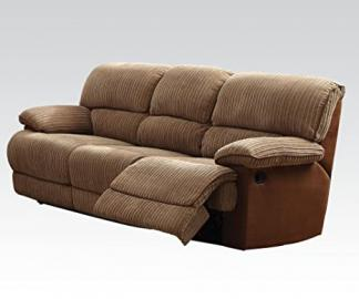Malvern Light Brown Ultra Plush Sofa with Motion by Acme Furniture