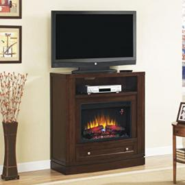 """ClassicFlame 26DE6439-C247 Wesleyan Wall or Corner TV Stand for TVs up to 47"""",  Meridian Cherry (Electric Fireplace Insert sold separately)"""