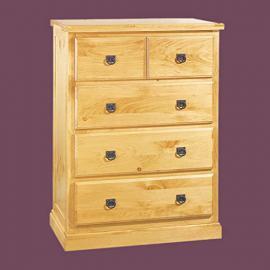 Drawer Chests UnFin Pine Stafford 4 Drawer Dresser Chest Kit