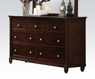 Amaryllis Traditional Seven Drawer Dresser in Cherry by Acme Furniture