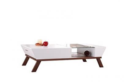 Furniture of America Eva Coffee Table with Storage, White