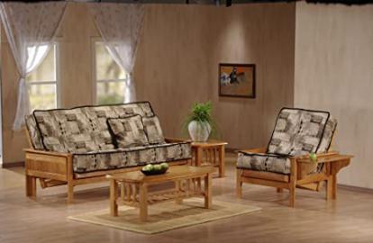 J&M Furniture 175652-F-JV Carmel Futon Frame