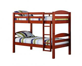 Convertible Twin Twin Solid Wood Bunk Bed or 2 Single Twin Beds , Cherry