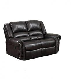 Casual Comfort Abigail Loveseat Sofa, Dark Brown