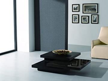 J&M Furniture Modern Coffee Table 878 in Dark Oak & Brown High Gloss