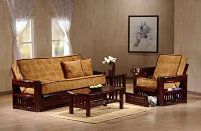 J&M Furniture 1756510-Q-RSWD Tudor Futon Frame
