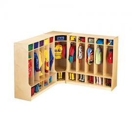 Jonti Craft Children's Corner Coat and Bookbag Storage w Cubbies