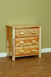 White Cedar Rustic 3 Drawer Chest *Fruitwood*