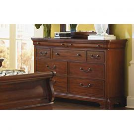 Evolution Nine Drawer Dresser in Distressed Rich Auburn