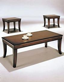 3 Pc Wooden Coffee Table Set
