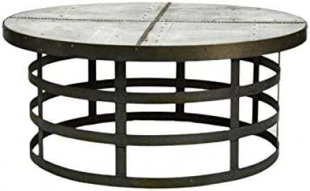 ZENTIQUE 1001 Recycled Metal Round Coffee Table
