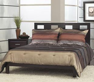 Modus Nevis 2 Piece Riva Platform Bedroom Set in Espresso