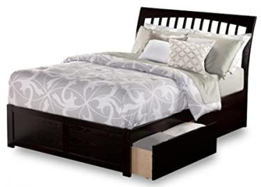 Orleans Queen Flat Panel Foot Board w/ 2 Urban Bed Drawers in Espresso