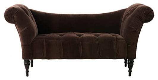 TOV Furniture Shev Velvet Settee, Brown