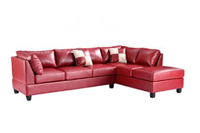 Glory Furniture G649-SC Sectional Sofa, Red, 2 boxes