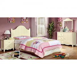 Brooklyn Collection 4-Piece Twin Bedroom Collection - Cream