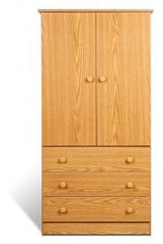 PREPAC JOD-3060 Casual Oak 2 Door, 3 Drawer Juvenile Wardrobe