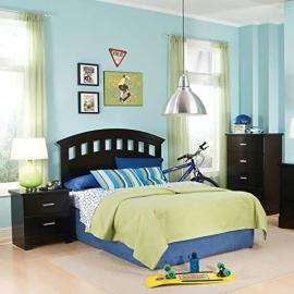 Standard Furniture Free2b 3 Piece Kids' Headboard Bedroom Set In Black