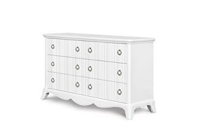 Magnussen Home Furnishings Y2194 Gabrielle Snow White Wood Drawer Dresser