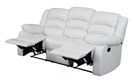 Glory Furniture G947-RS Reclining Sofa, White