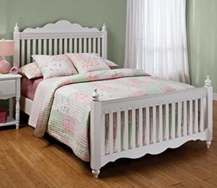 Hillsdale Furniture 1528BFR Lauren Post Bed Set with Rails, Full, White