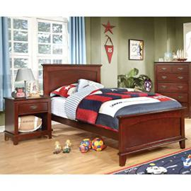 Adrian Inspired 2-Piece Bedroom Collection with 2 Nightstands - Cherry