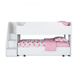 South Shore Mobby Loft Bed with Trundle, Twin, Pure White