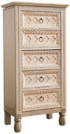 """Hives and Honey """"Abby"""" Jewelry Armoire, Antique Ivory"""