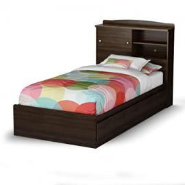 Clever Twin Mate's Bed & Bookcase Headboard Mocha