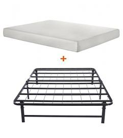 Merax Bed Combination of Bed Mattress (Full) and Metal Folding Bed Frame(full) (8