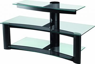 "Opera SAV-050 Lustra Three Shelf Glass TV Stand, for Flat Screen up to 52"""