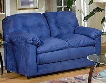 Chelsea Home Furniture Lisa Loveseat, Cobalt Blue
