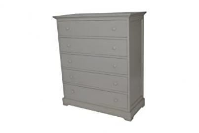 Munire Chesapeake 5 Drawer Dresser, Light Grey