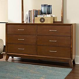 Homelegance Soren 6 Drawer Dresser in Light Cherry