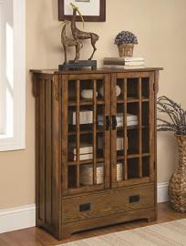 Coaster Home Furnishings Contemporary Curio Cabinet, Distressed Oak
