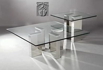 Chintaly Imports Sabrina Square Glass Sofa Table